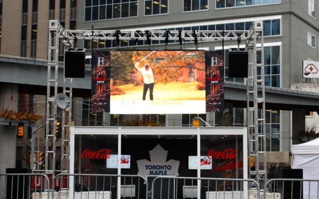 MLSE Road Show Outdoor LED wall
