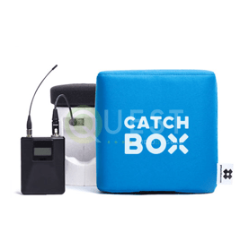 Catchbox Microphone available for rent in Toronto with Quest Audio Visual