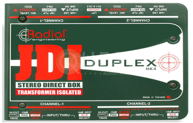 JDL Passive Direct Box available for rent in Toronto with Quest Audio Visual