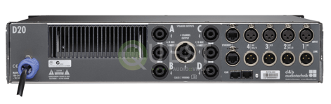 d&b D20 Power Amplifier available for rent in Toronto with Quest Audio Visual
