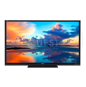 Sharp LC 80″ AQUOS LED HD TV available for rent in Toronto with Quest Audio Visual