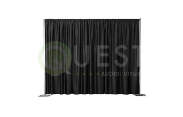 Black Drape available for rent in Toronto with Quest Audio Visual