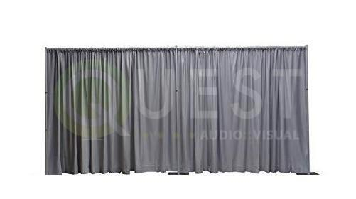 Grey Drape available for rent in Toronto with Quest Audio Visual