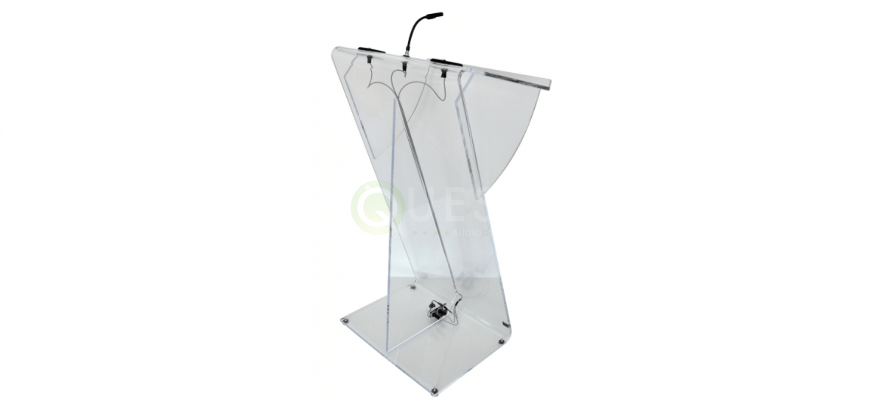 Plexi Glass Podium available for rent in Toronto with Quest Audio Visual