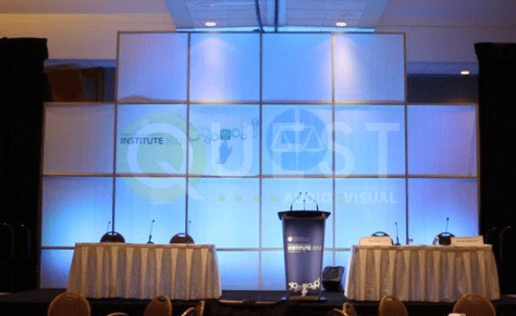 Octonorm Backdrop available for rent in Toronto with Quest Audio Visual