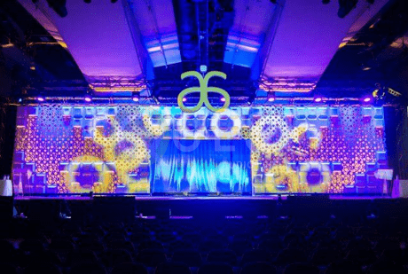 Custom Set available for rent in Toronto with Quest Audio Visual