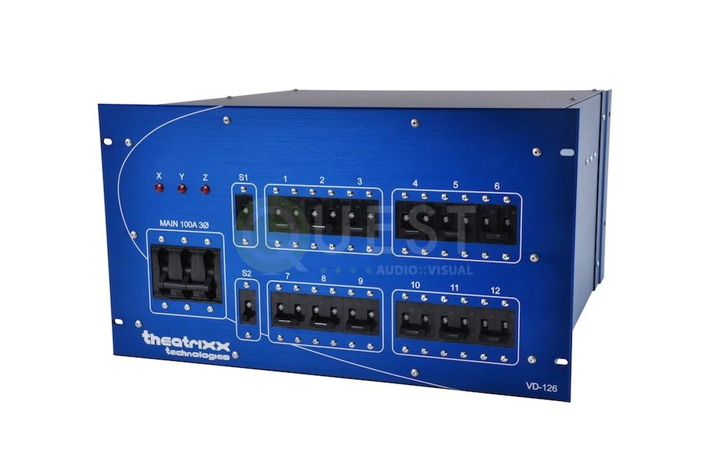 Theatrixx 110v 3 Phase 100 Amp Distro available for rent in Toronto with Quest Audio Visual