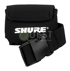 Belt Pouch for Wireless Bodypack Transmitters – Shure available for rent in Toronto with Quest Audio Visual