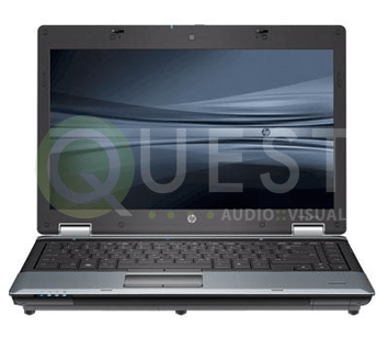 HP 8540p Laptop available for rent in Toronto with Quest Audio Visual