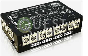 Microh 4 CH DMX Splitter available for rent in Toronto with Quest Audio Visual