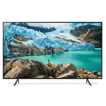Samsung 75″ RU7100 Smart 4K UHD TV available for rent in Toronto with Quest Audio Visual