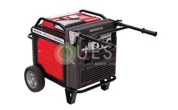 Honda 7000w Ultra Quiet Generator available for rent in Toronto with Quest Audio Visual